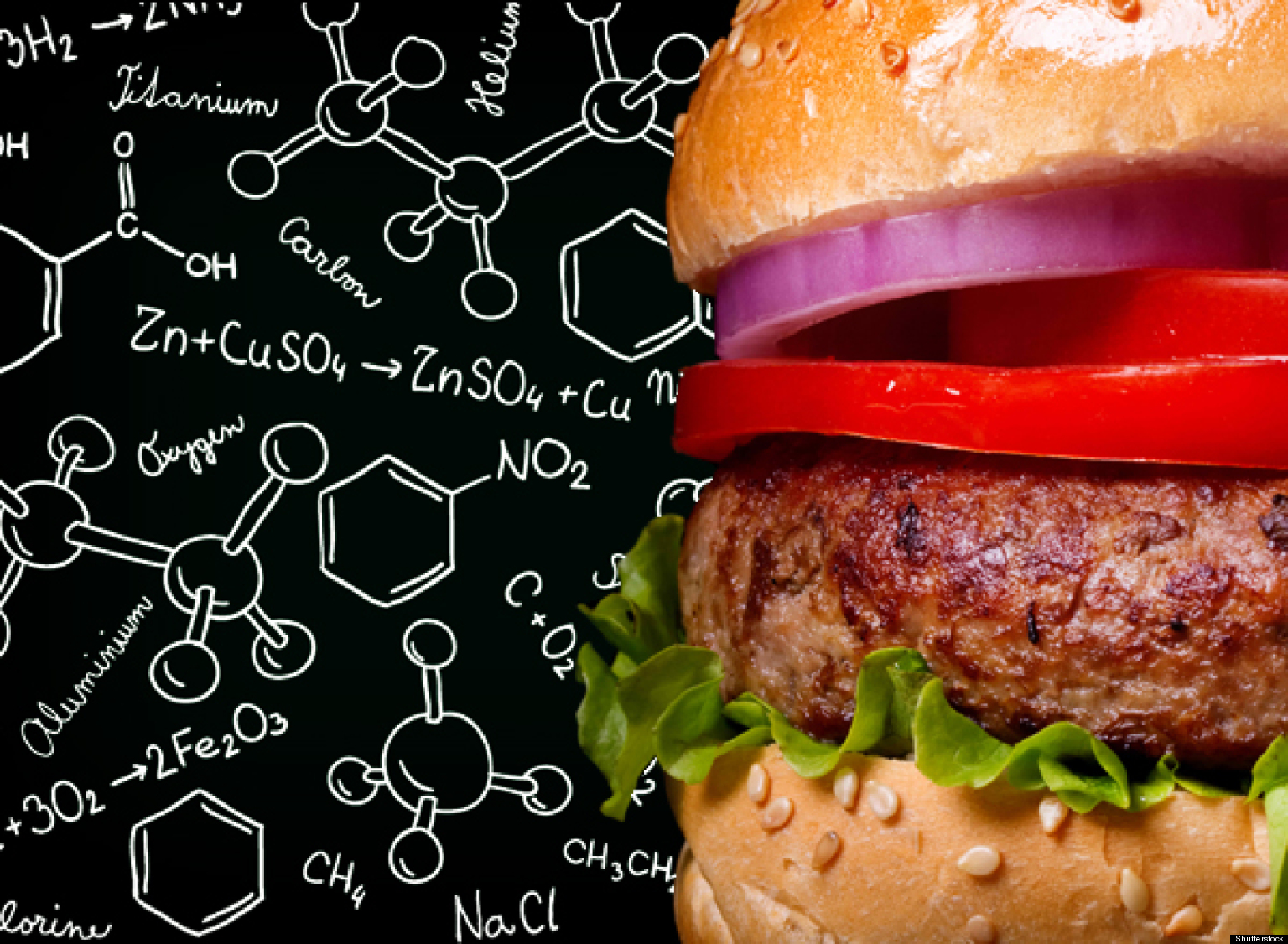 burger with molecules